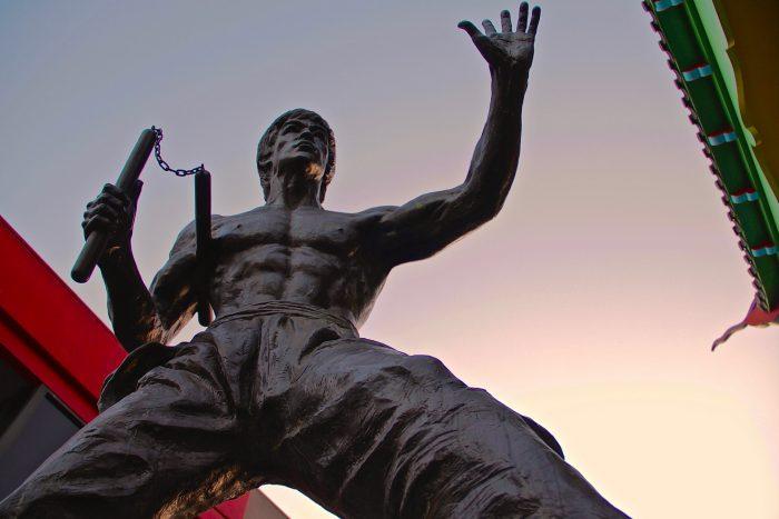 Памятник Брюсу Ли в Лос-Анджелесе, обои с Брюсом ли на рабочий стол, 2048*1365
